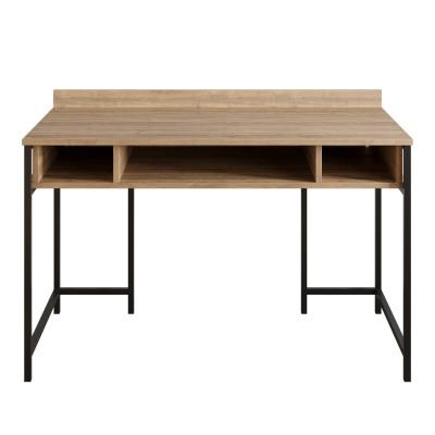 Schreibtisch Tümata | Schwarz / Walnuss