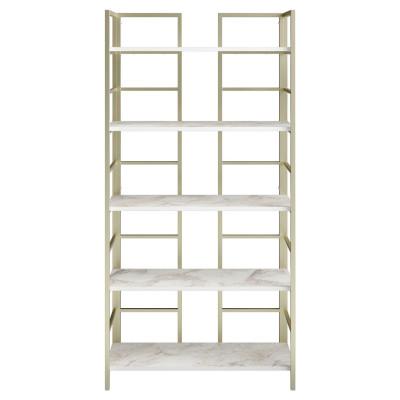 Bücherregal Tinleys | Weiß / Gold