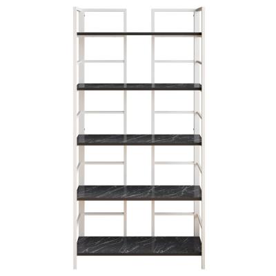 Bücherregal Tinleys | Schwarz / Weiß