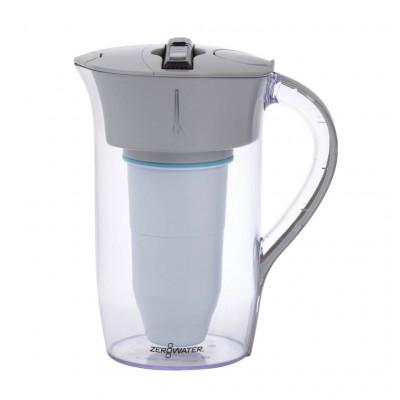 8-Tassen Filterkanne 1,9 L | Grau & Transparent