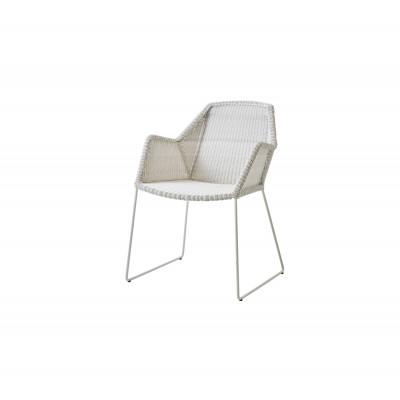 Outdoor Armchairs Breeze   White Grey