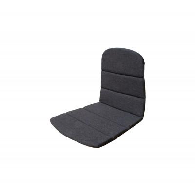 Outdoor Stuhl Sitz / Rücken Kissen Breeze   Schwarz