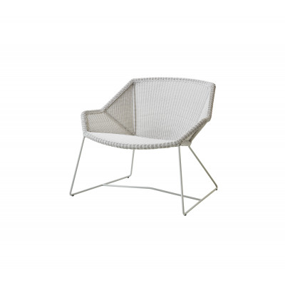 Outdoor Lounge Chair Breeze   White Grey