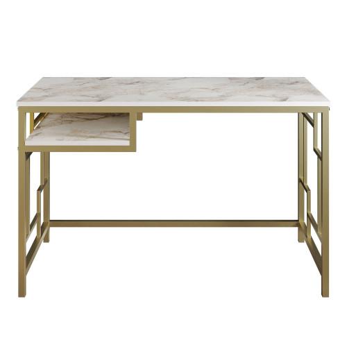 Schreibtisch Victory   Gold / Weiß