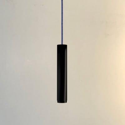 Pendelleuchte Fifty-Five 30 cm | Schwarz/Schwarz/Jeans