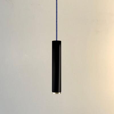 Pendelleuchte Fifty-Five 30 cm | Schwarz/Brass/Jeans