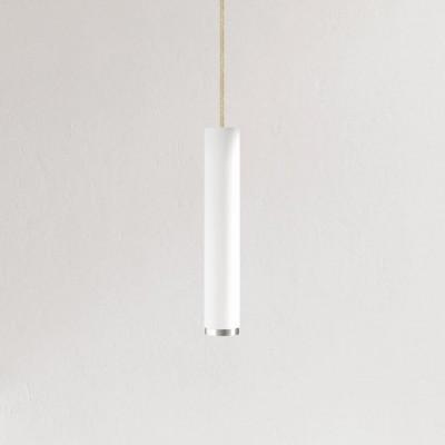 Pendelleuchte Fifty-Five 30 cm | Weiß/Aluminium/Juta