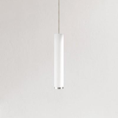 Pendelleuchte Fifty-Five 30 cm | Weiß/Aluminium/Sandfarbig
