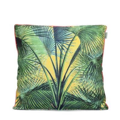 Kissenbezug Palmenblätter   100% Baumwolle