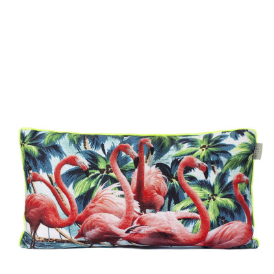 Kissenbezug Flamingos   100% Baumwolle