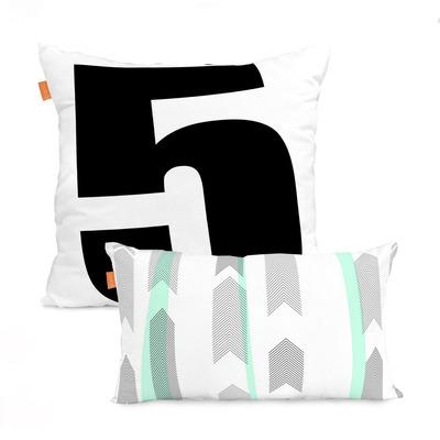2er Set Kissenbezüge Tempera | 50x50cm + 50x30cm