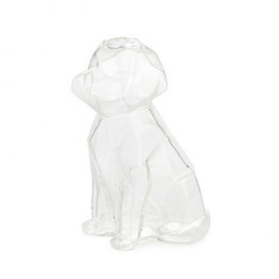 Vase Sphinx Hund 15 cm   Transparent