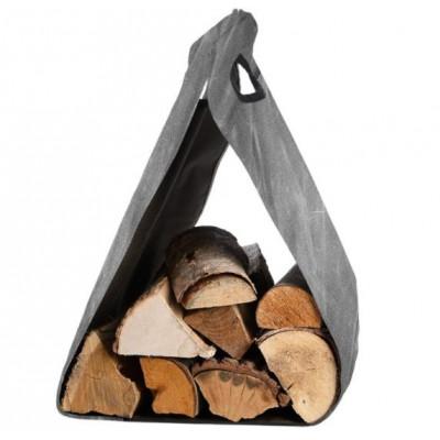 Brennholzträger aus gewachstem Segeltuch