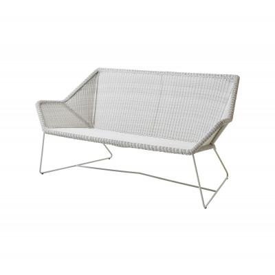 Outdoor 2 seater Sofa Breeze   White Grey