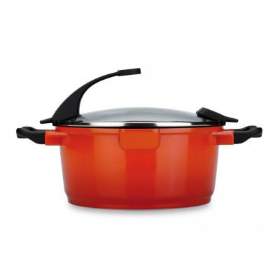 Suppentopf mit Deckel 28 cm | Orange