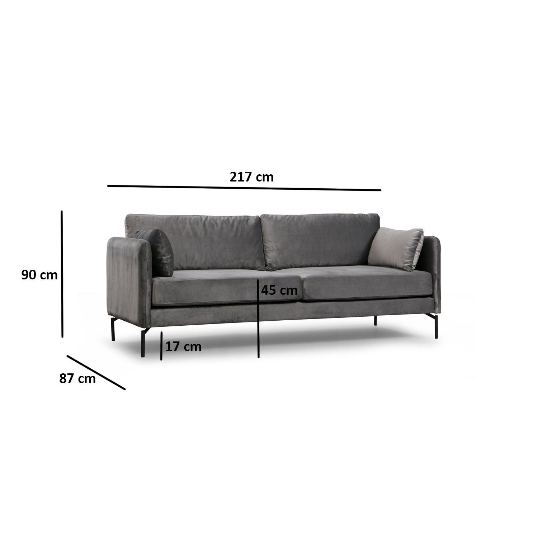 3-Sitzer-Sofa Sino   Grau