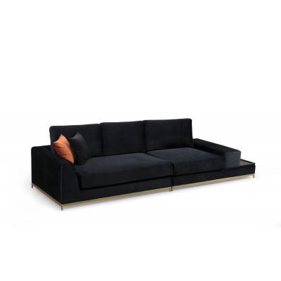 4-Sitzer-Sofa Line | Schwarz