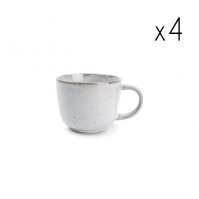 4er-Set Tassen Freckles 25 cl | Grau