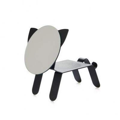 Tisch + Spiegel Katze   Schwarz