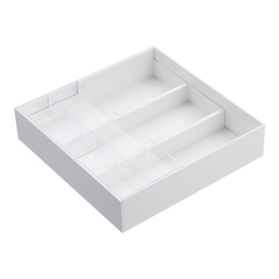 Extendable Drawer Organizer with Slide - Tower | White