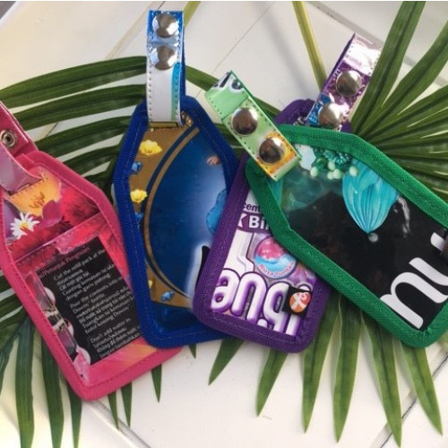 Gepäckanhänger Plastik | 4er-Set