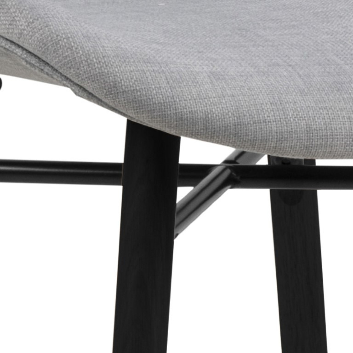 Set of 2 Chairs Matilda-A1   Light Grey & Black