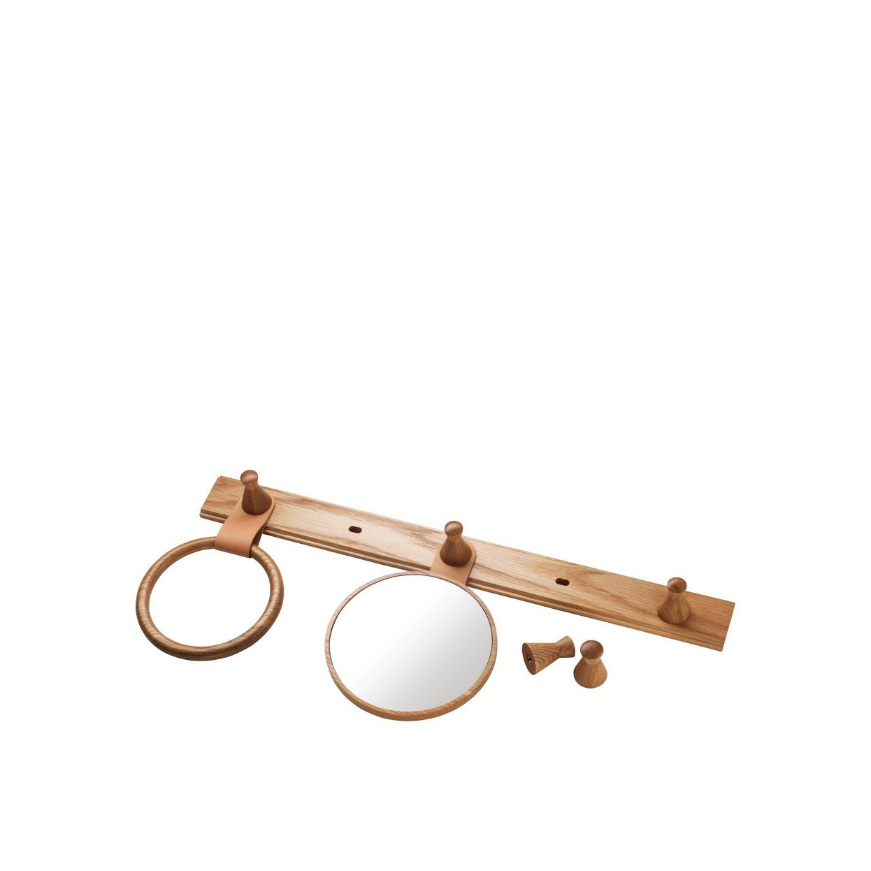 Spiegel für Garderobe Q5 | Eiche