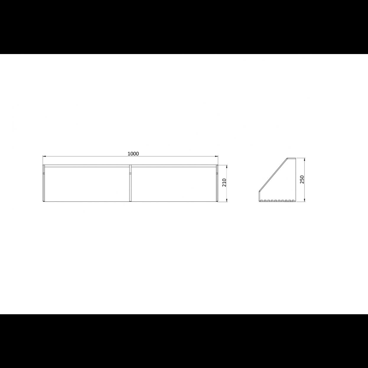 Regal B5 25 x 100 x 21 cm | Eiche gebeizt