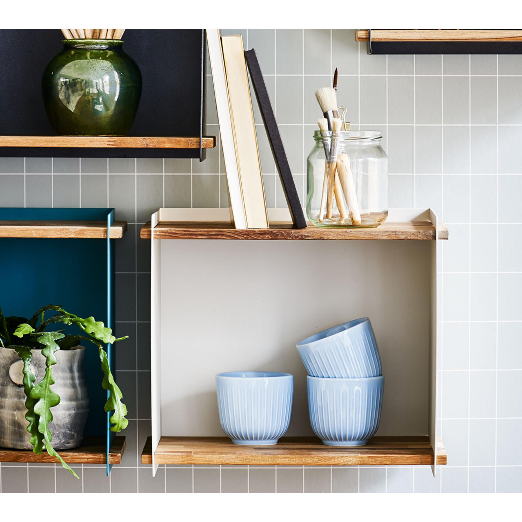 Wall Cabinet Box | Light Wood & White