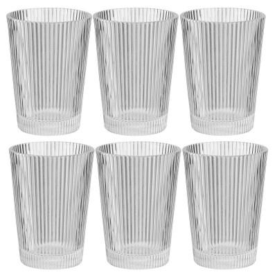 Set mit 6 Trinkgläsern Pilastro