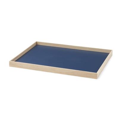 Tablett Rahmen Medium   Eiche-Blau