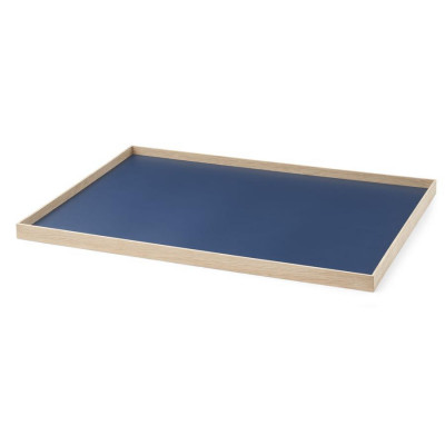 Tablett Rahmen Large   Eiche-Blau