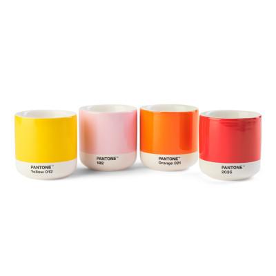 4-er Set Thermobecher Cortado | Rosa-Orange-Gelb-Rot