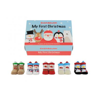 Babysocken 5 Paar   My First Christmas
