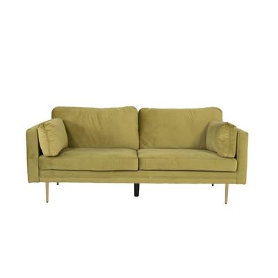 3 Seater Sofa Boom Velvet | Spring Green
