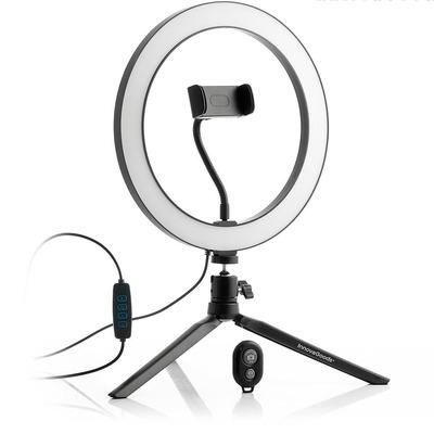 Selfie-Ringlicht mit Stativ und Fernbedienung