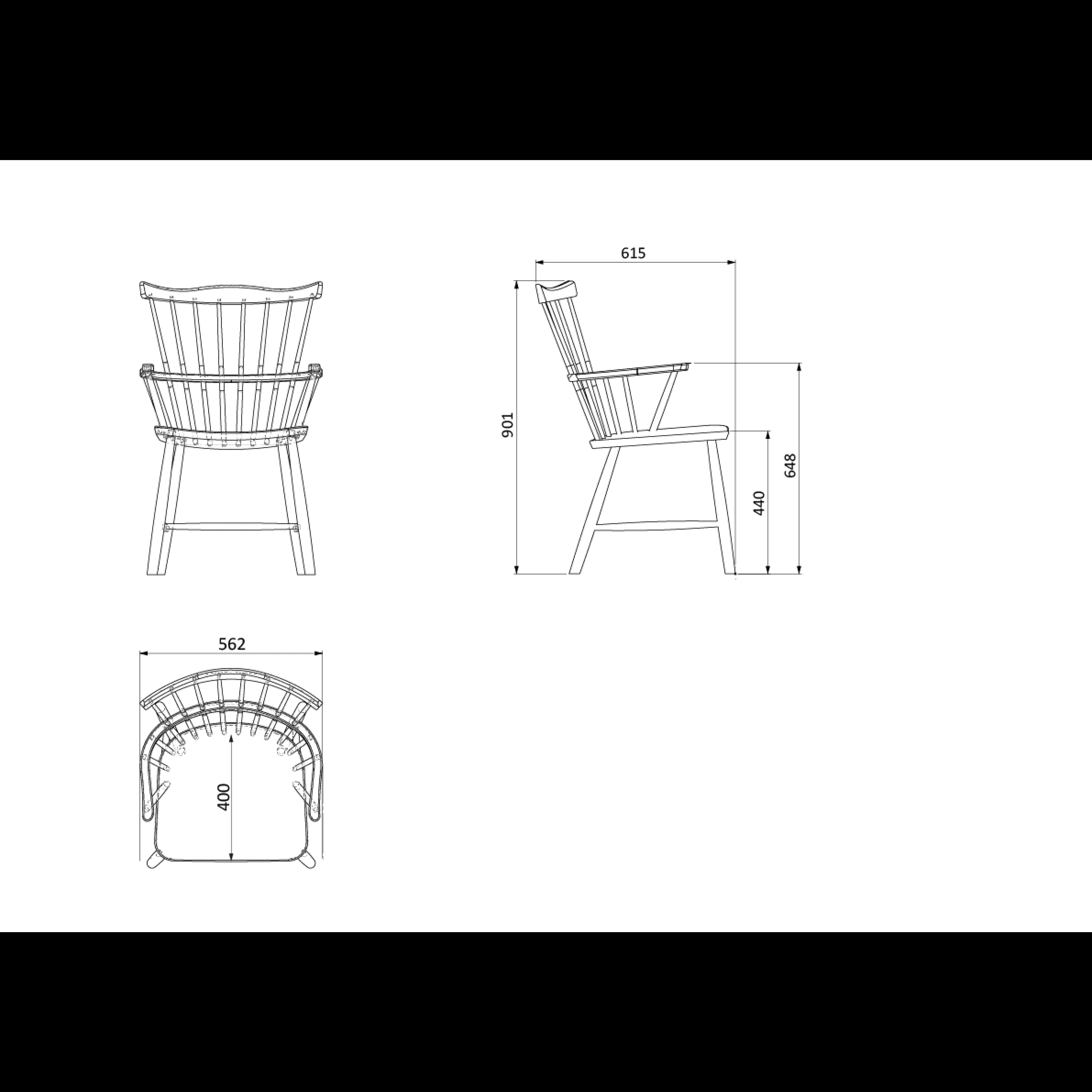 Stuhl J52B | Weiß