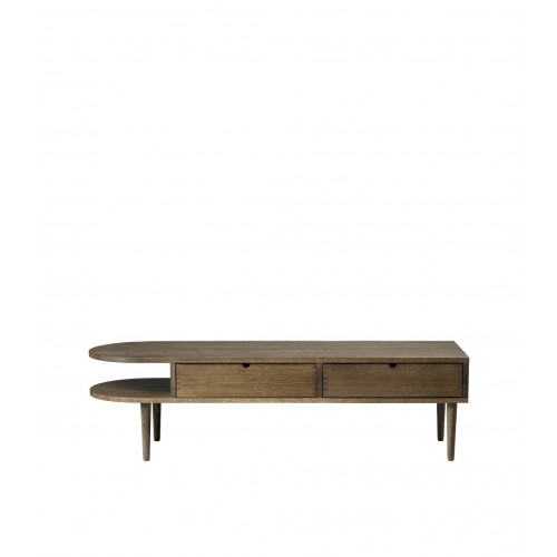 Bench F24 Radius | Stained Oak