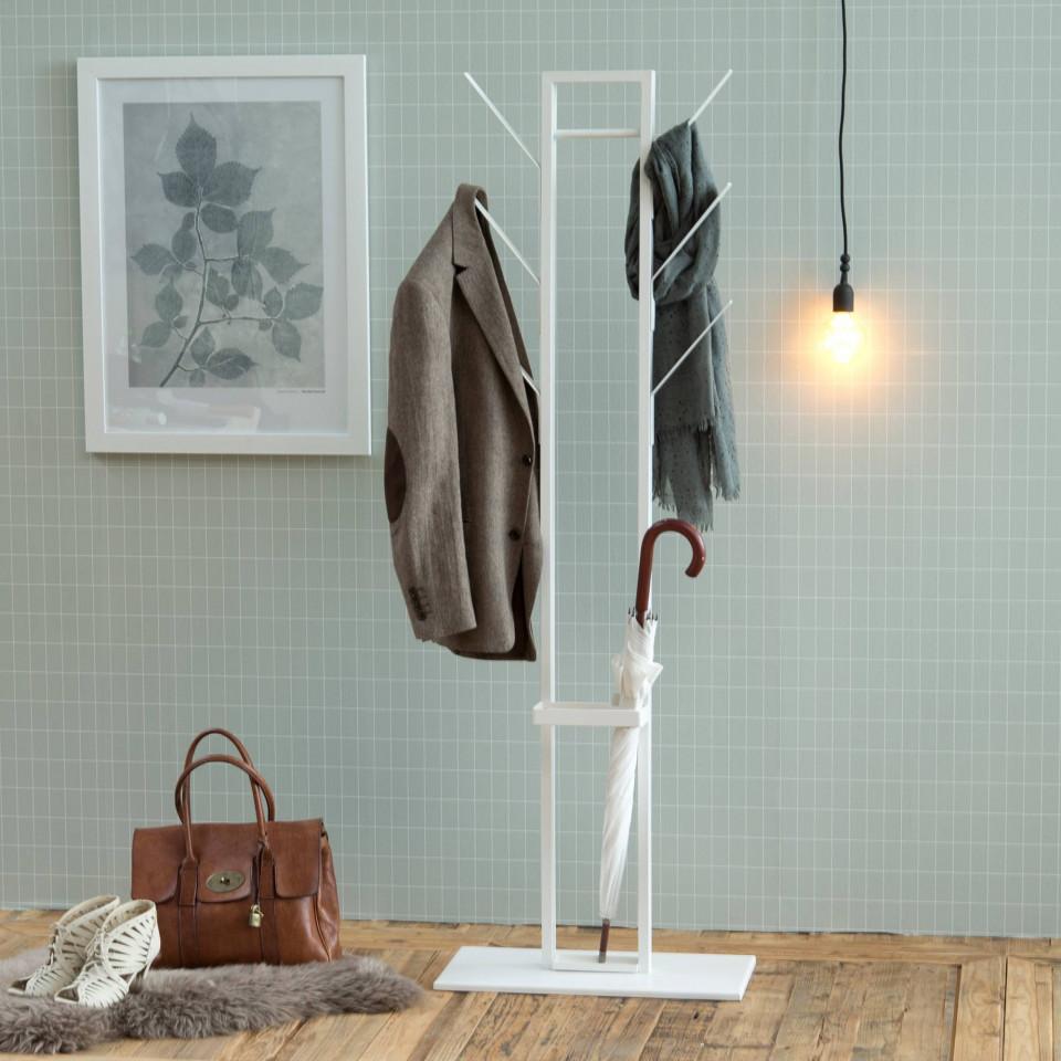 Coat Hanger + Umbrella Stand Vinc | White