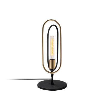 Tischlampe Cerco | Schwarz/Gold