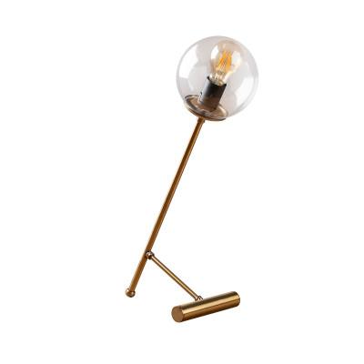 Tischlampe Golf | Gold/Durchsichtig