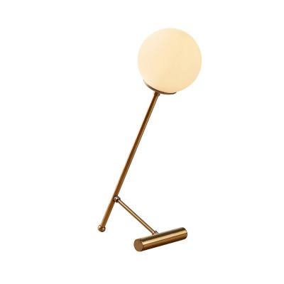 Tischlampe Golf | Gold/Weiß