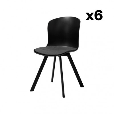 6-er Set Esszimmerstühle I-Story | Grau