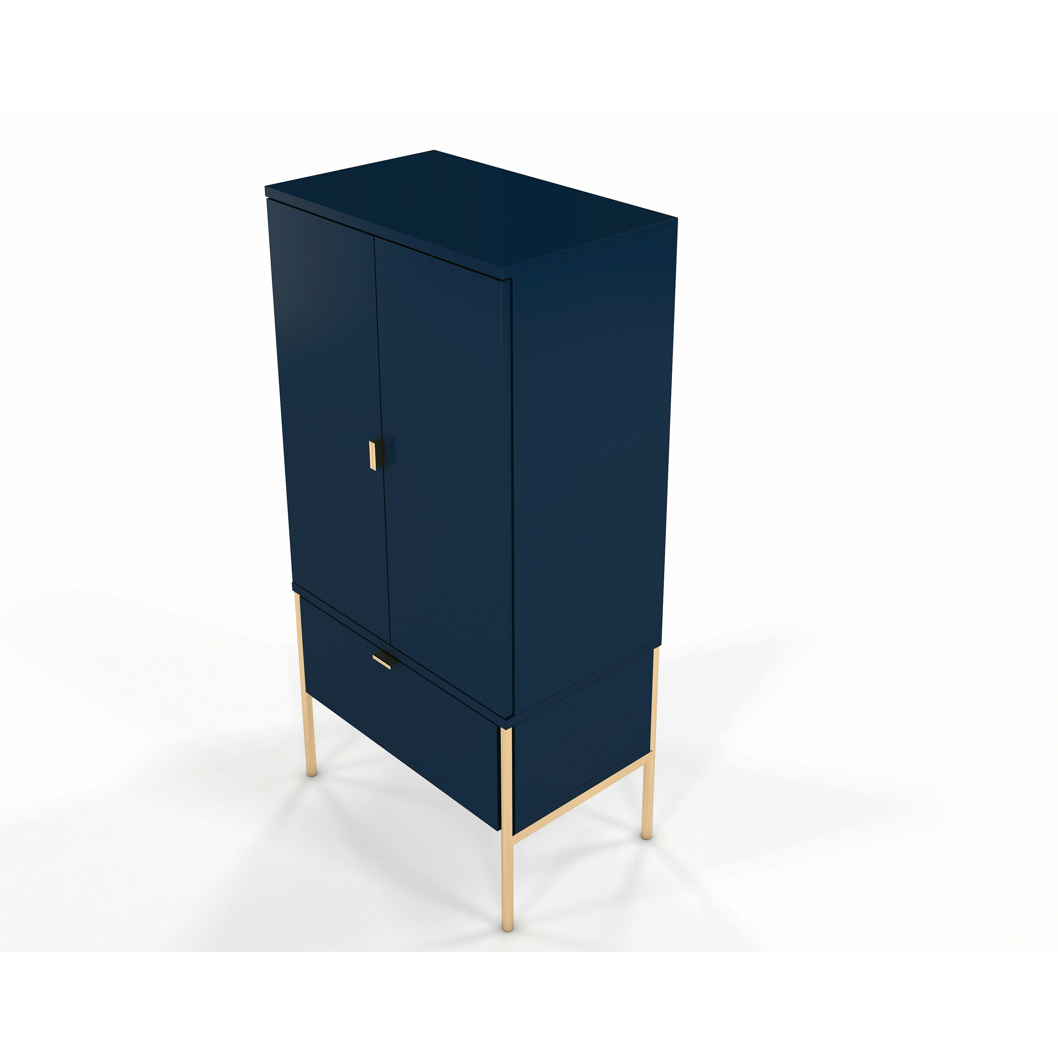 Combi Cabinet Polka P03   Navy Blue