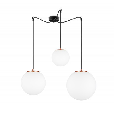 Pendant Lamp Tsuki MIX L,M,S 3_S   Matt Opal & Copper