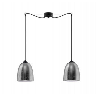 Pendelleuchte Awa 2/S   Silber / Schwarz