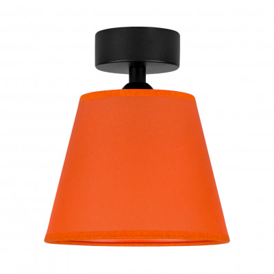 Deckenleuchte Iro 1 CP | Schwarz/Orange