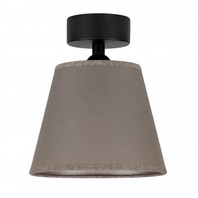 Deckenleuchte Iro 1 CP | Schwarz/Taupe