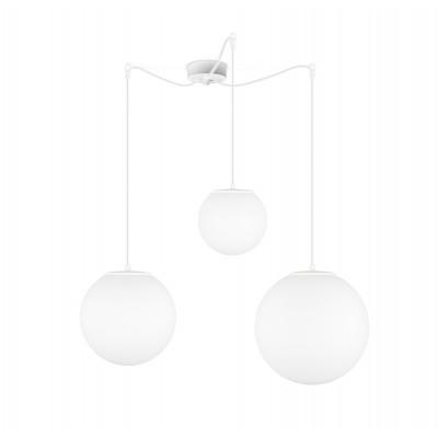 Pendelleuchte  Tsuki MIX L,M,S 3_S | Mattweiß / Weiß