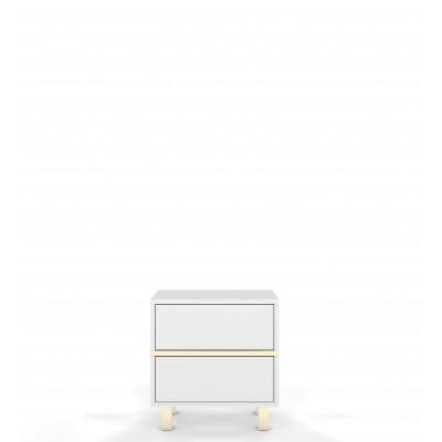 Nachttisch DanCan Magica | Weiß & Gold